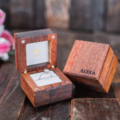 LilyCraft Wooden Ring Boxes