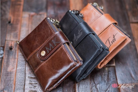 customized mens wallet