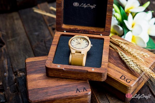 personalised watch wooden engraved watch