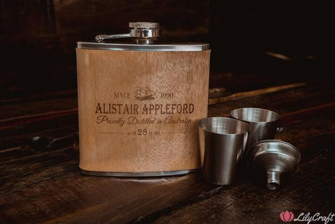 wooden hip flask gift ideas for him groomsman gifts christmas gift for boyfriend