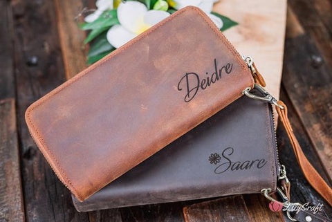 ladies wallet ladies purse ladies clutch wallet ladies organiser wallet gift ideas for her thoughtful gift for her custom engraved wallet