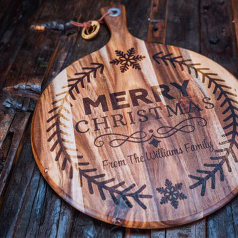 christmas gift ideas laser engraved chopping board