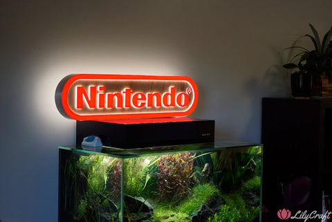 nintendo sign, custom sign, personalised sign for business