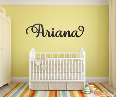 baby name wall sign, personalized name sign, nursery decorations, nursery baby name plaque