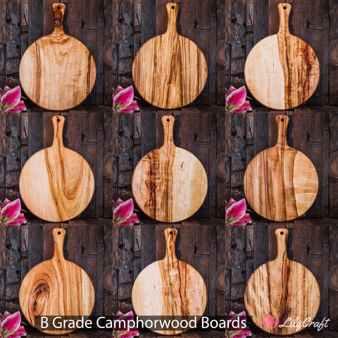 Camphorwood cutting cheese boards B Grade LilyCraft