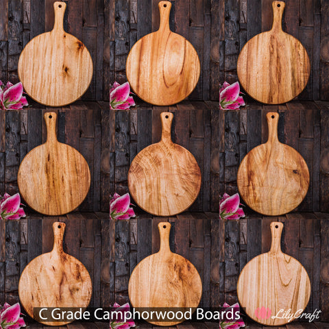 LilyCraft C Grade Camphorwood cheese boards