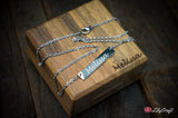 custom engraved necklace with gift box