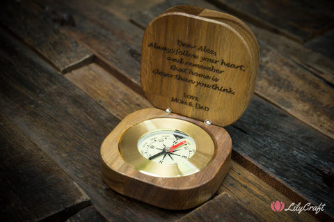 compass graduation gift personalised compass