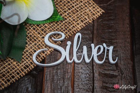 lilycraft silver colour for wedding cake toppers and place names