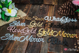 Elegant Wedding Cake Topper Personalized for you from rustic wood or acrylic