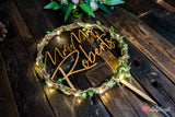 Modern LED Light Laurel Wreath Wedding Cake Topper