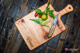 Engraved Cheese Board made from Australian Karri Wood
