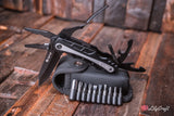 Multi Tool Engraved Leatherman style pocket knife for fathers day and groomsmen gift.
