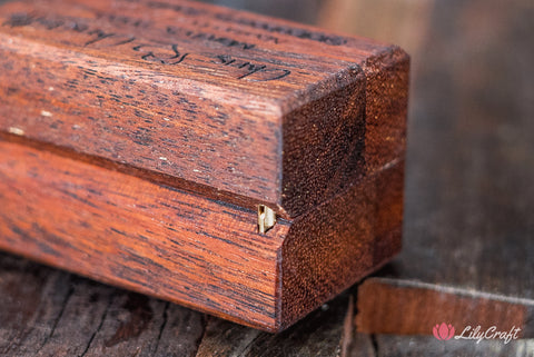 custom made engraved wooden jewelry box