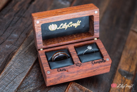 lilycraft double wedding ring box