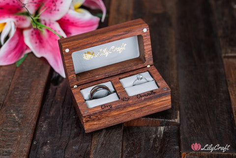 white leather wedding ring box