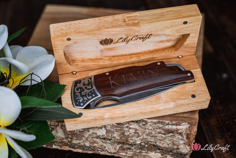 engraved knife gift for men