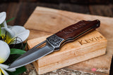 Folding Pocket Hunting Knife. Personalized Engraved Knife Gifts for him with gift box.