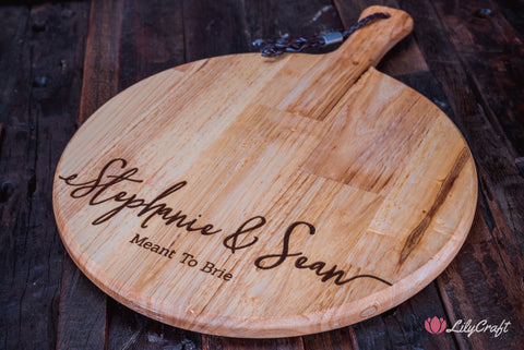 wedding gift cheeseboard