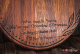 Personalized Cutting Board Christmas gifts for grandparents. Best Christmas Gift for Grandma and Grandpa.
