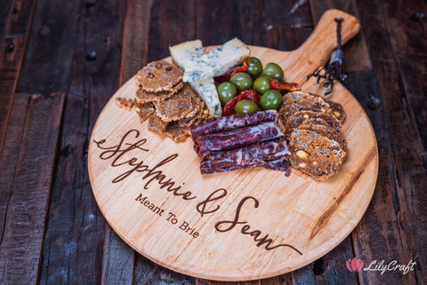 cheese platter ideas engraved cutting board