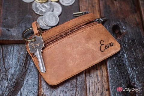 engraved coin purse
