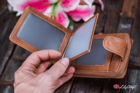 personalized wallet with photo holders