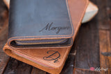 Clutch Purse made from Genuine Cowhide Leather. Personalized Evening Clutch Bag