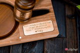 Judge Mallet Engraved Auctioneers Mallet with Sound Block and Gift Case