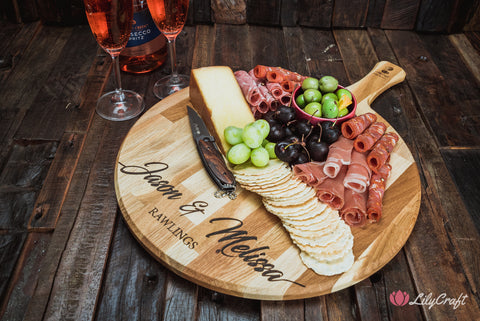 cheese platter board pizza board engraved cheese board lilycraft