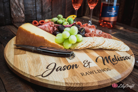 engraved cheese board personalised cheese platter lilycraft cheese boards