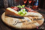 Large Personalised Cheese and Pizza board made from premium Oak Wood. Cheese Platter serving board. Pizza paddle board custom engraved.