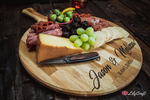 cheese board with knife customised cheese board customised knife