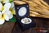Modern Luxury Wedding Ring Box - Personalized Double Wedding Ring Box