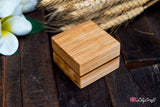 Modern Wedding Ring Box - Personalized Double Wedding Ring Box