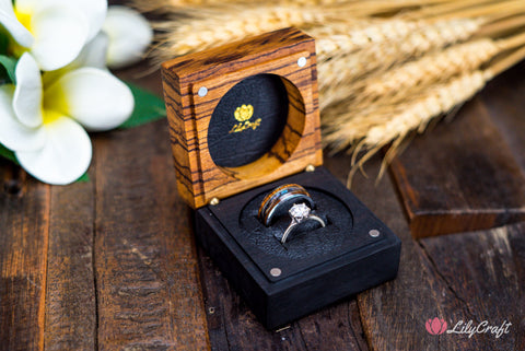 LUXURY DOUBLE WEDDING RING BOX