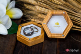 Modern Wedding Ring Display Box - Ring Bearer Box