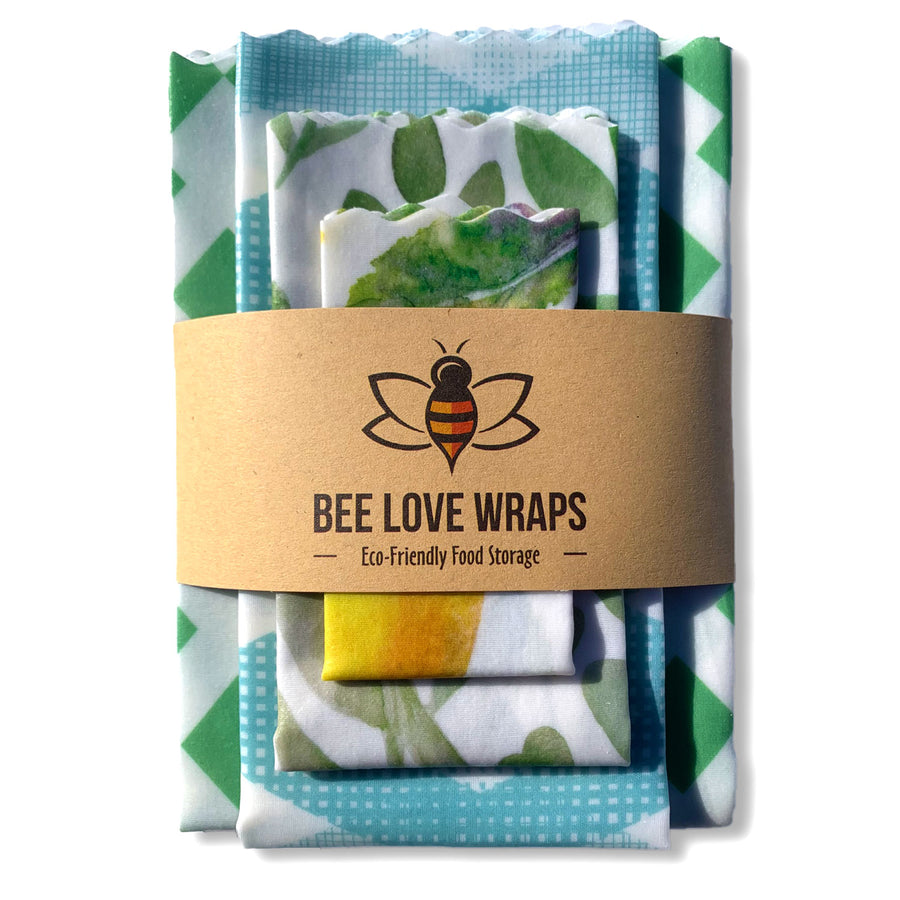 beeswax wrap 4 pack blue