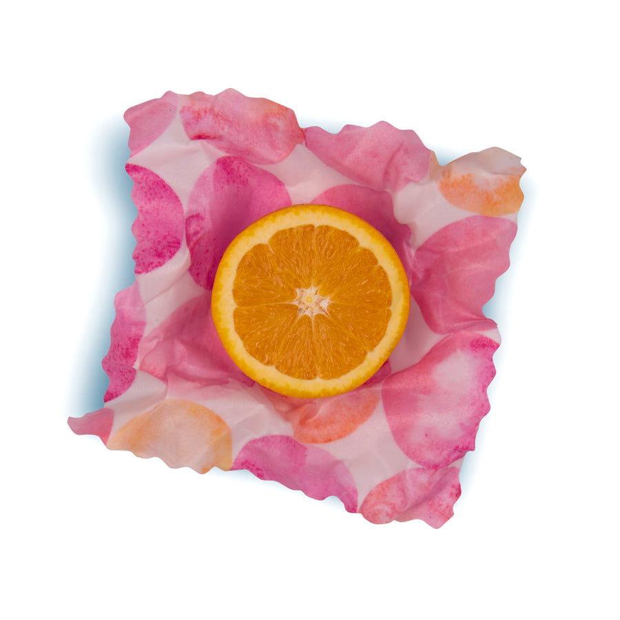 beeswax wrap small orange