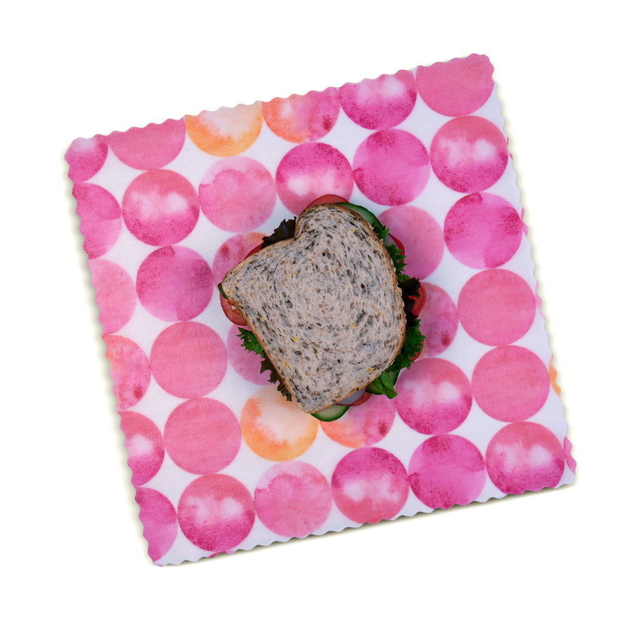 beeswax wrap sandwich pink