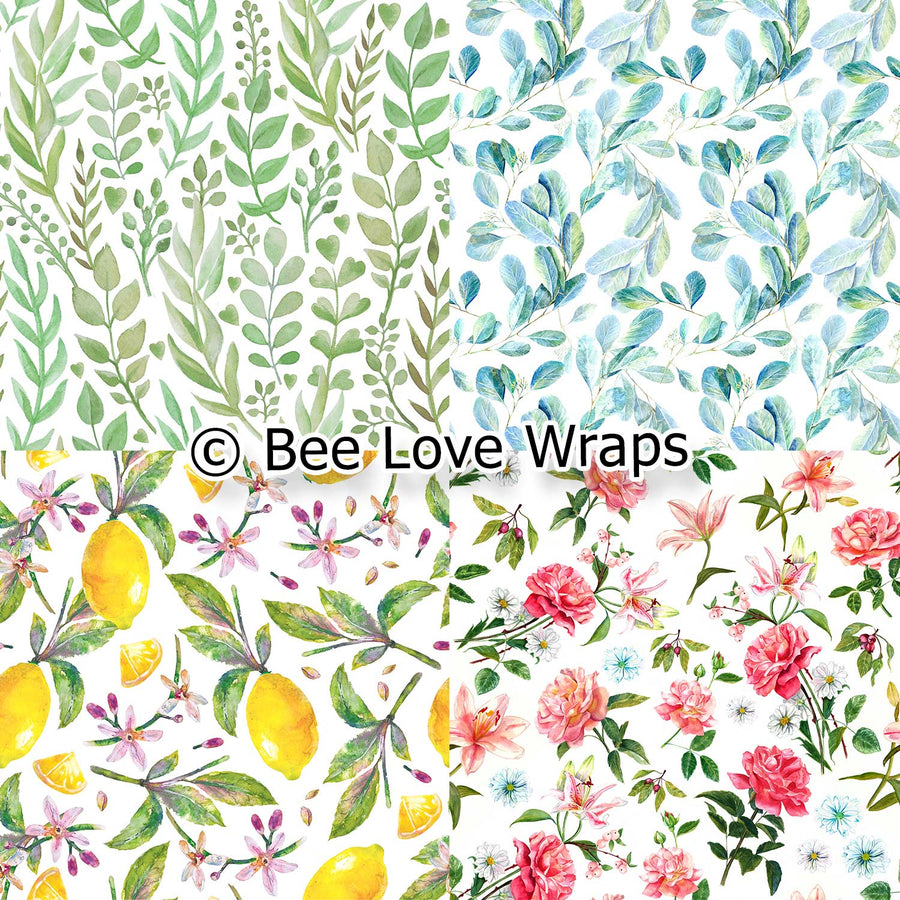 beeswax wrap floral designs