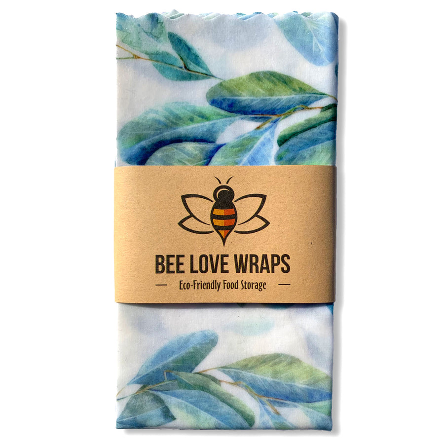 beeswax wrap sandwich pack blue