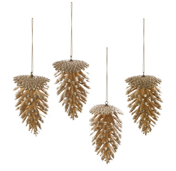Large Artificial Gold Pinecone 11cm