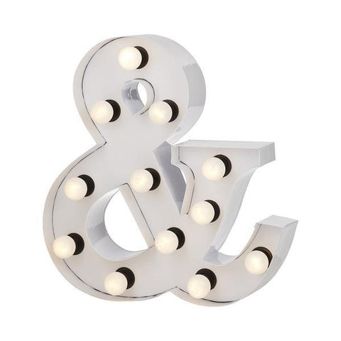 Marquee Large Ampersand Light Silver