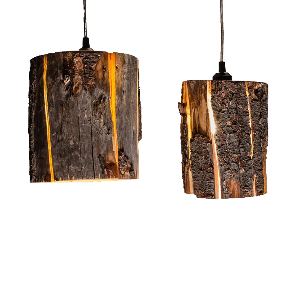 Duncan Meerding Cracked Log Pendant Light