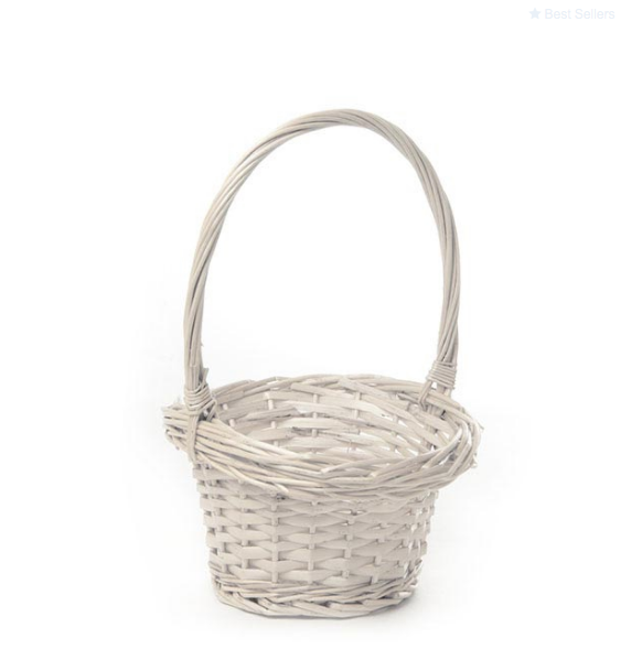 Egg Collecting Willow Basket White