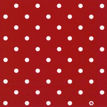Mac's Napkins Red Polka Dots
