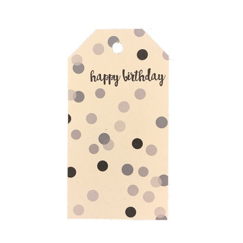 Gift Tags - Monochrome Happy Birthday