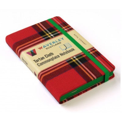 Royal Stewart Tartan Cloth Commonplace Notebook