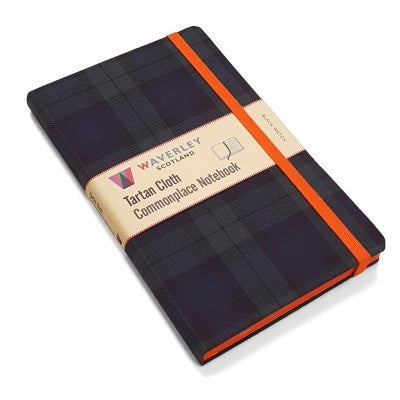 Black Watch Tartan Cloth Large Notebook